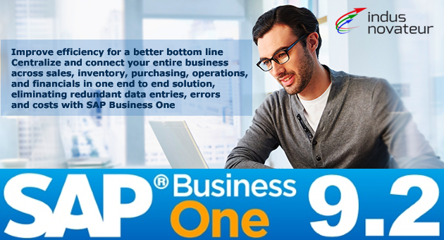 Improve efficiency for a better bottom line – Centralize and connect your entire business across sales, inventory, purchasing, operations, and financials  in one end to end solution, eliminating redundant data entries, errors and costs with SAP Business One - indusnovateur.com/sap/sap-business-one