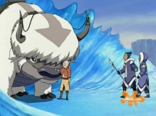 "Aang ""This is Appa, my flying bison."" Sokka ""And this is"