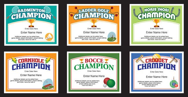 Backyard Games Certificates Templates Check Out These Award