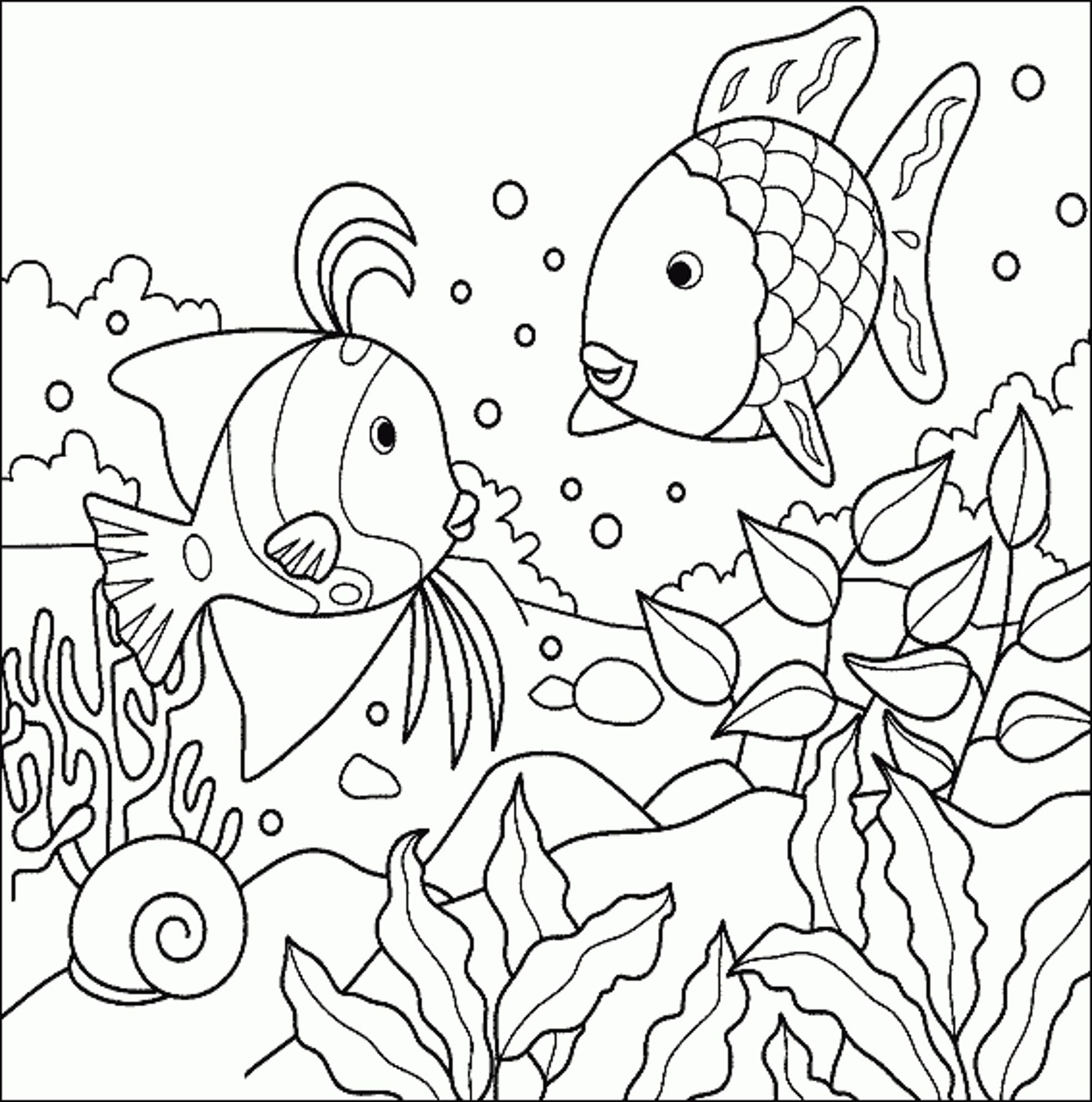Fish Coloring Pages At | Projects to Try | Pinterest | Adult ...