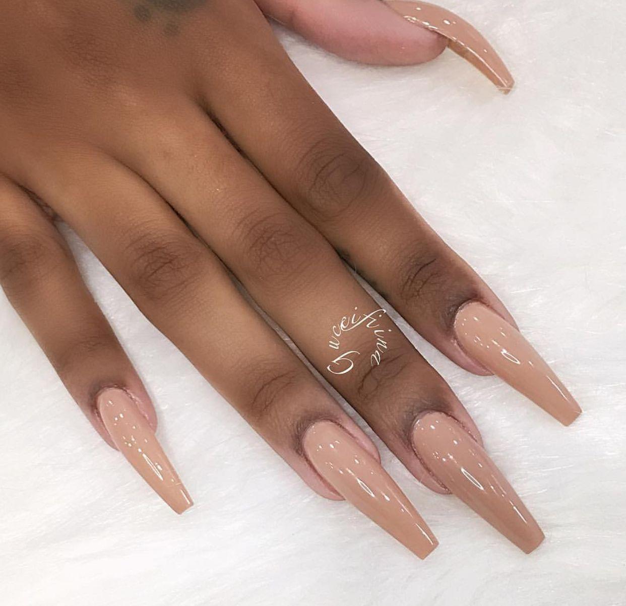 Elizabethhernandez Tan Nails Long Acrylic Nails Long Nails