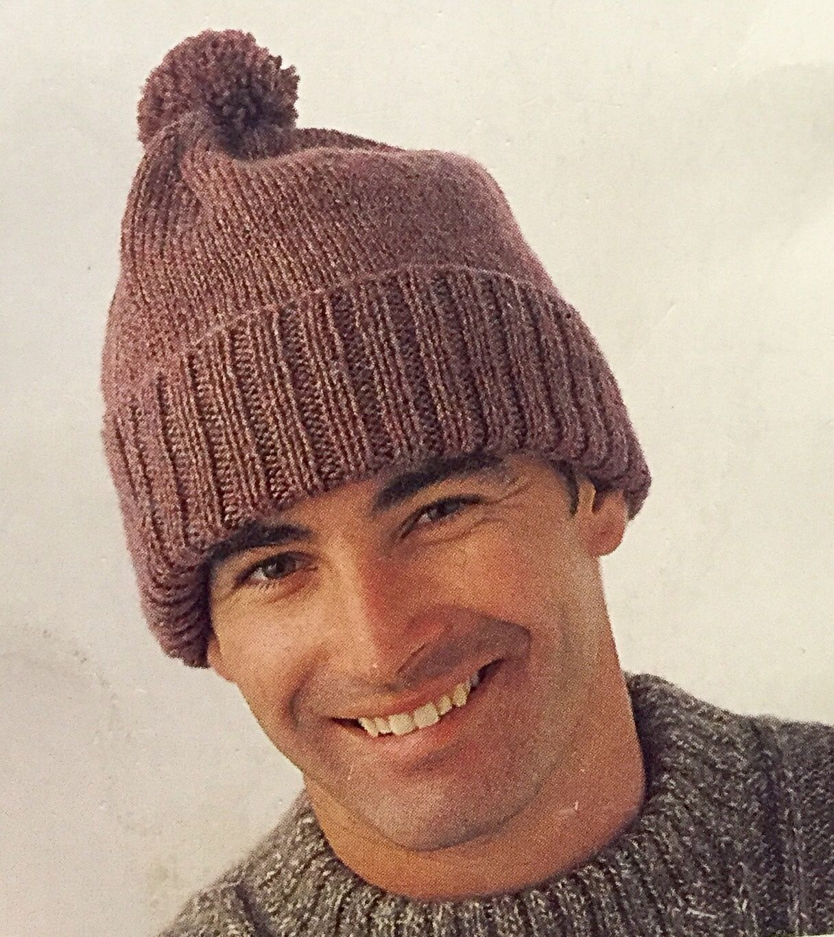 91ecc26bf22 Man s Knitted Beanie. Knitted beanie. 8 ply. 12 ply. Patons winter warmers.