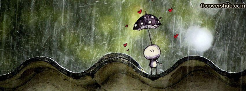 Standing Alone In Rain Cute Fb Cover Facebook Timeline