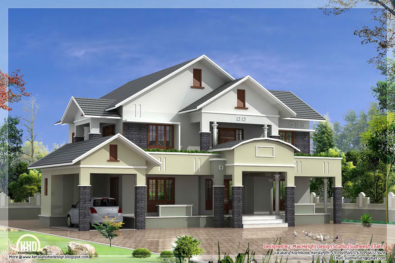 Luxury Simple 4 Bedroom Flat Roof 33 Modern House Design ...