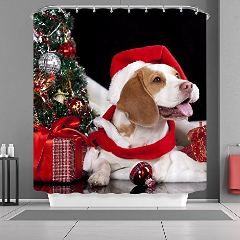 christmas dog bathroom decor