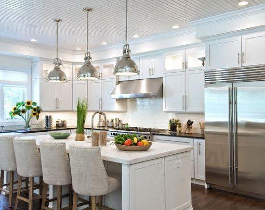 Modern Industrial Pendant Lights as Decorative Kitchen Interior ...