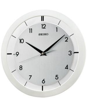 Seiko White Resin Wall Clock - White
