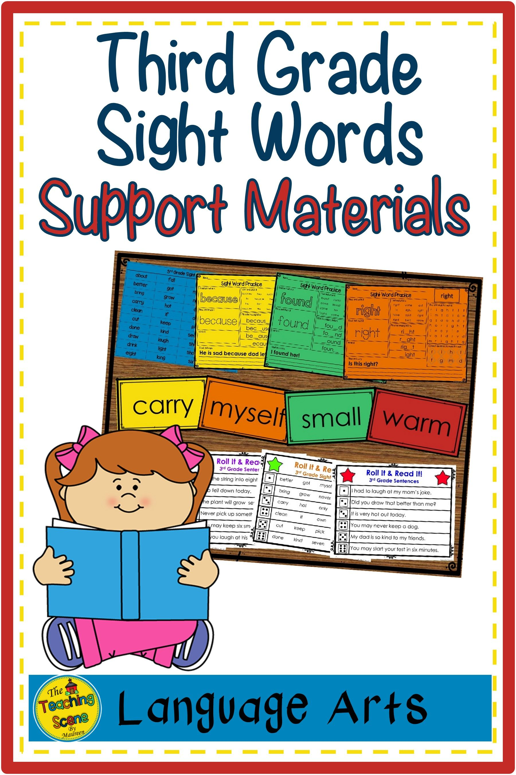 Third Grade Sight Word Lists Flashcards Worksheets