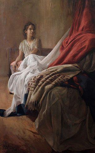 Guillermo Lorca Garcia Huidobro, Cama - Óleo sobre lienzo.