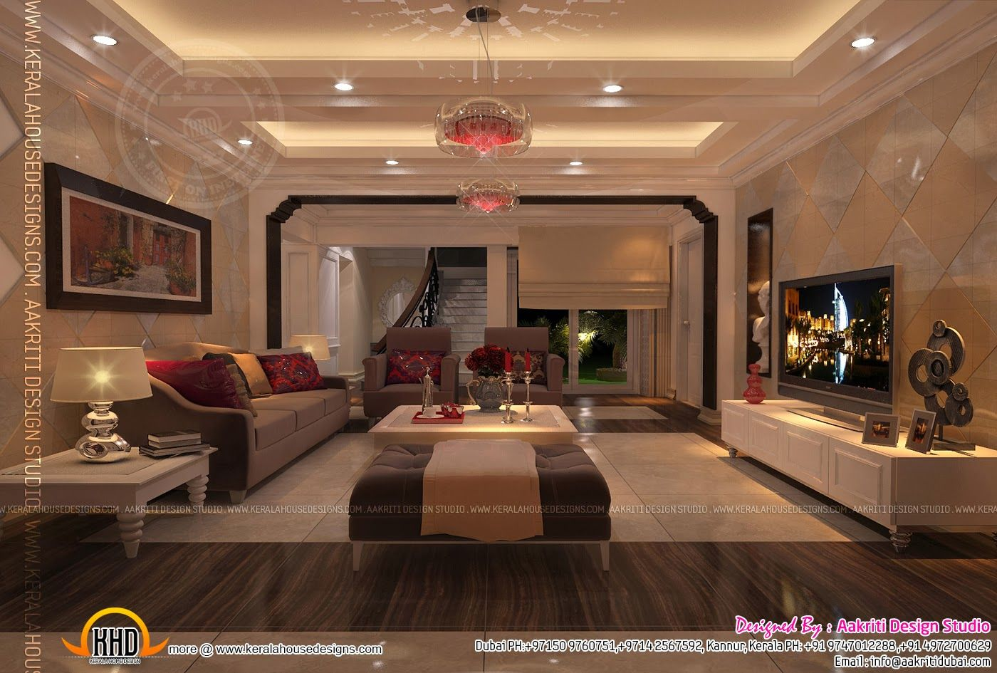 Kerala dining room design homes in kerala designed from for Dining room designs kerala