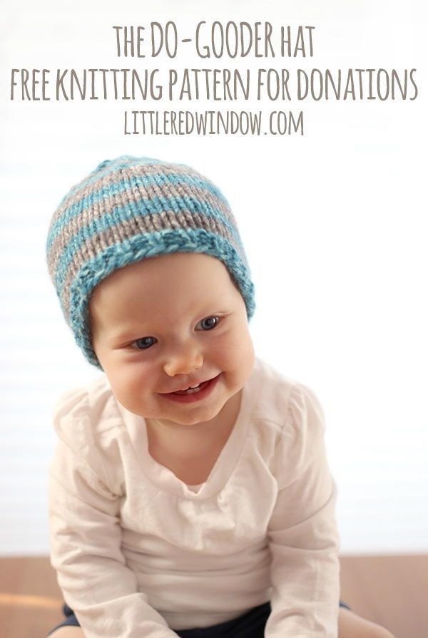 Do-Gooder Quick Knit Hat for Charity and Donations | Knitting ...
