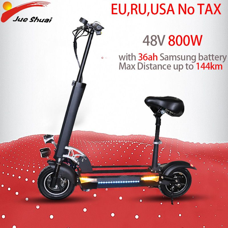 E Scooter 48v800w Max Distance Up To 144km 11 Motor Wheel 36ah
