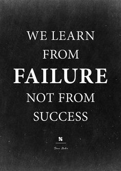 Motivational quote. Bram Stoker: We learn from failure. Quote Print. Printable Quote Poster. Instant Download Inspirational wall art