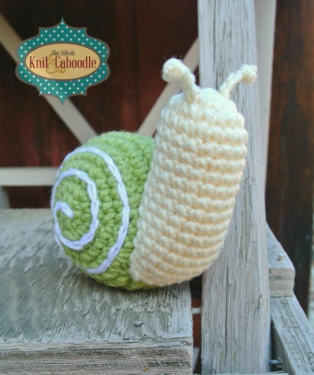free crochet snail pattern | Fergus the Snail- Free ...