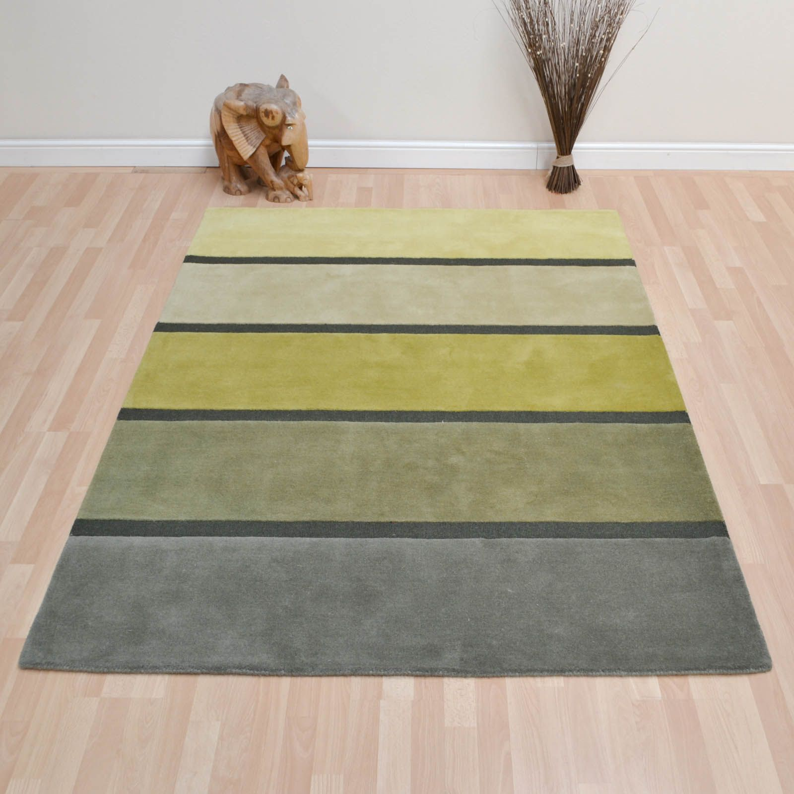 Luna Stairs 91707 Green Wool Rugs by Brink & Campman