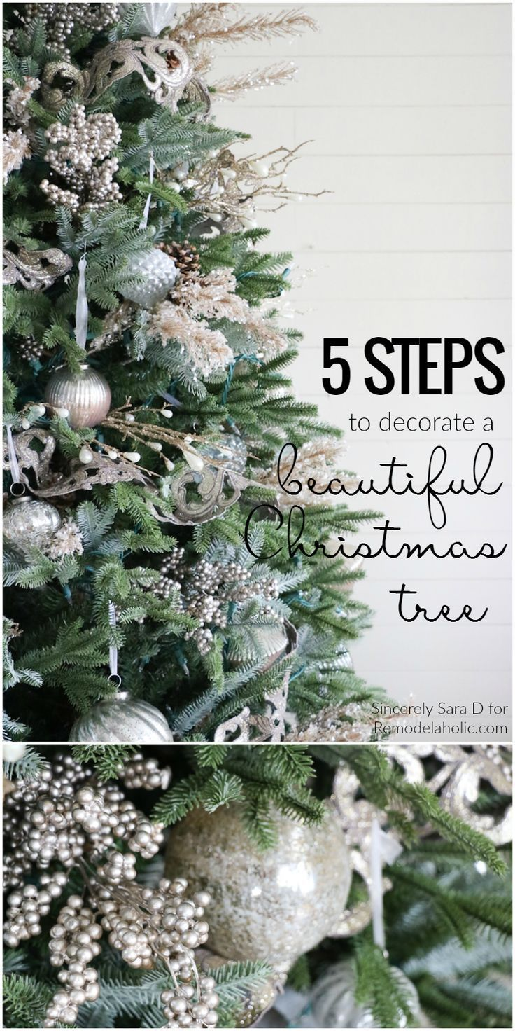 How to Decorate a Christmas Tree in 5 Simple Steps