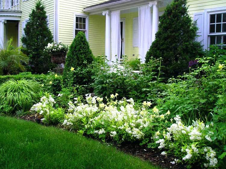 New England Perennials Elegant New White Gardens New England Perennials Full Sun Front Yard Landscaping Design Garden Design Landscaping Entryway