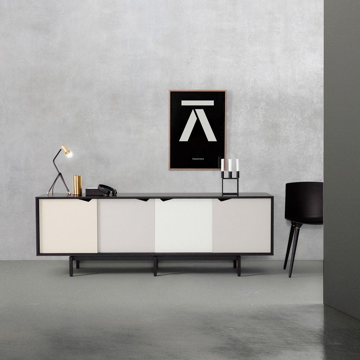 Andersen Furniture - S1 Sideboard, Eiche geseift/ Türen Dali ...