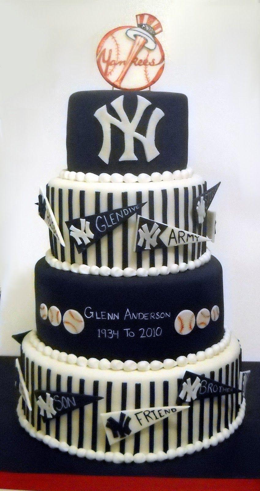 Sensational A Yankee Farewell With Images Yankee Cake Yankees Baby Funny Birthday Cards Online Benoljebrpdamsfinfo