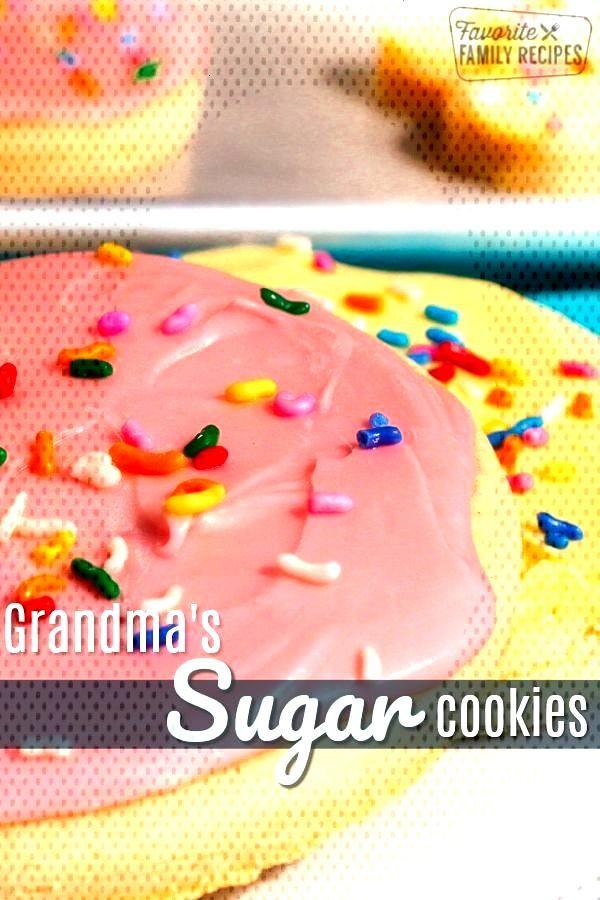 Grandma's Soft Sugar Cookies -
