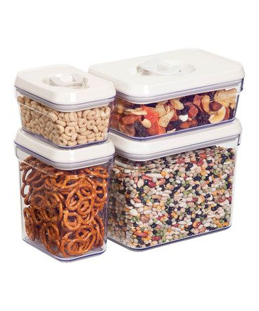 Air Lock Food Storage Container   Set Of Eight #zulily #zulilyfinds