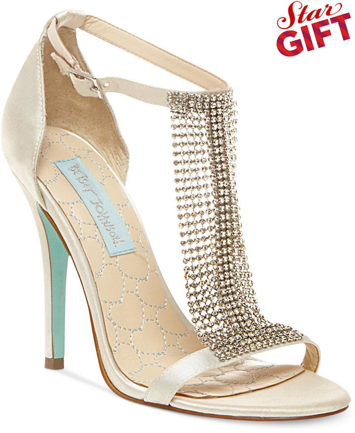 136329801 Blue by Betsey Johnson Mesh Evening Sandals   If the shoe fits ...