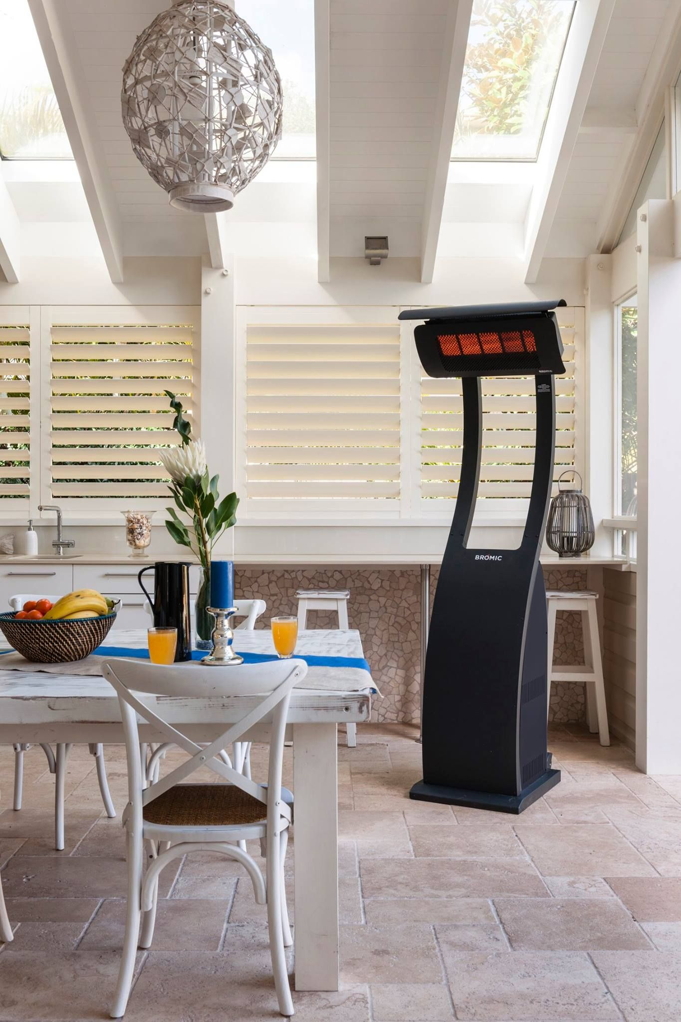 Fixed gas heater performance in a portable heating solution