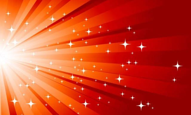 XOO Plate Red Starburst Abstract Vector Background