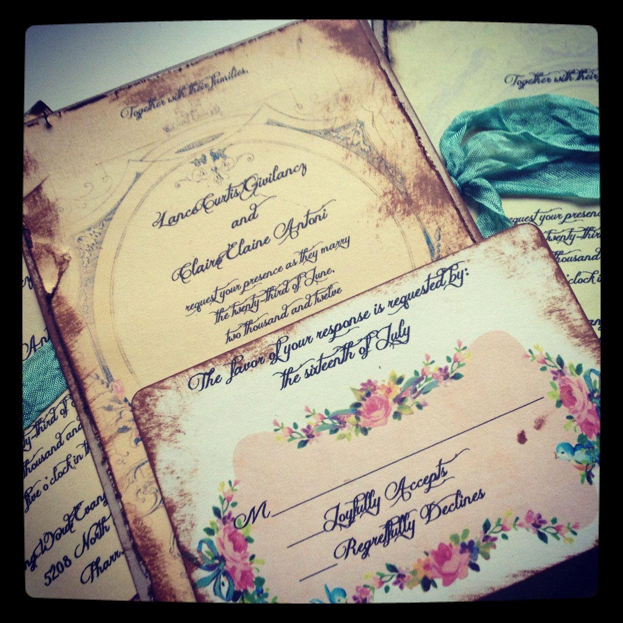 French Vintage Wedding Invitations: Wedding Invitation Marie Antoinette Wedding Vintage French