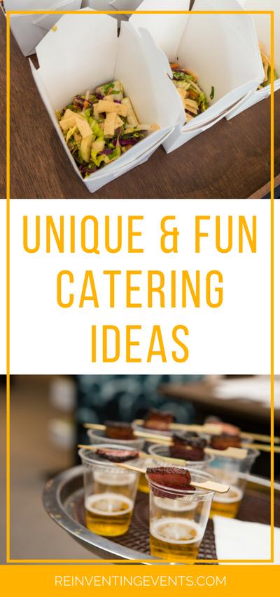 unique and fun event catering ideas