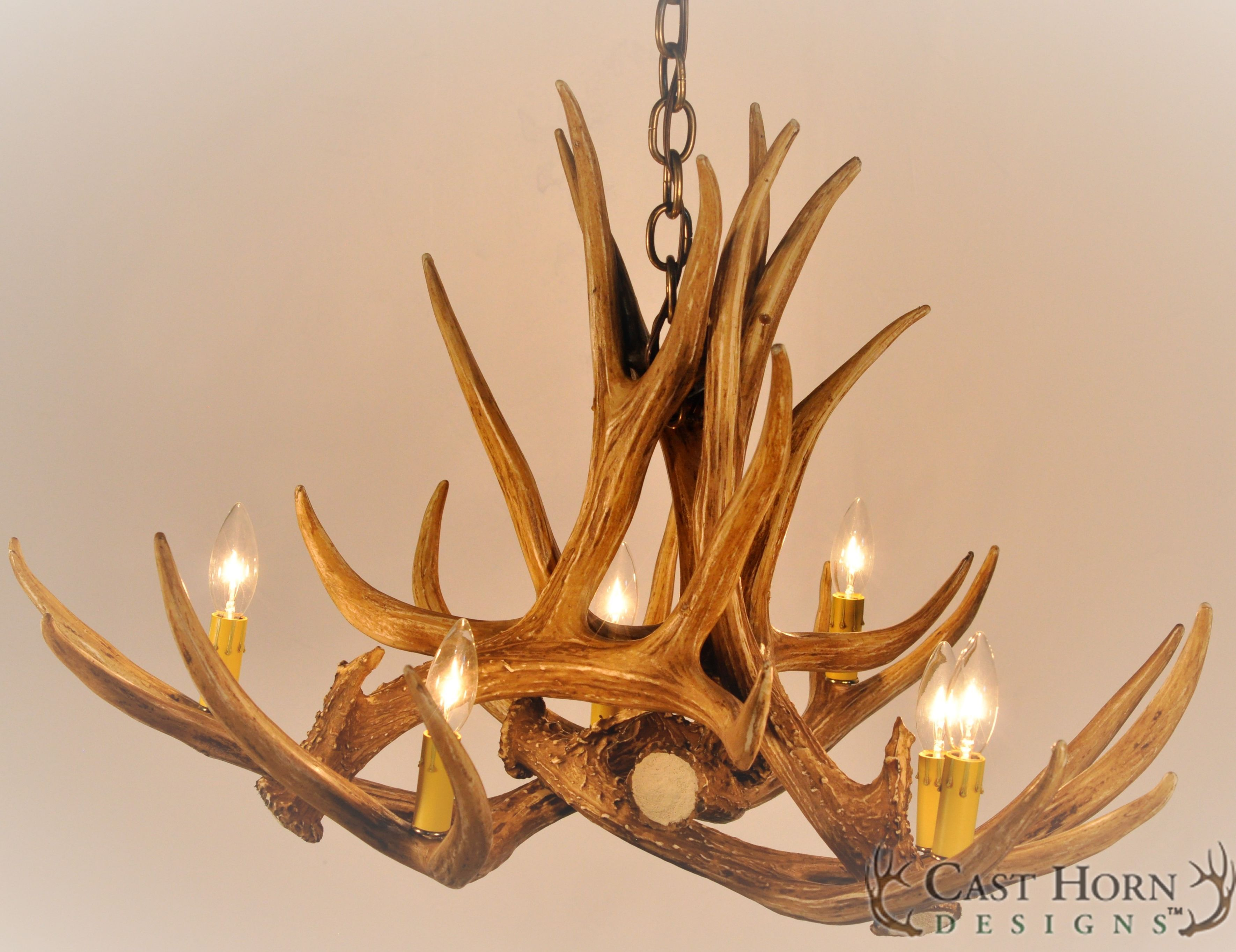 Mule deer 6 antler chandelier by cast horn designs chandeliers cast horn designs is americas largest supplier of rustic decor including antler chandeliers wagon wheel chandeliers european mounts and rustic lighting arubaitofo Choice Image