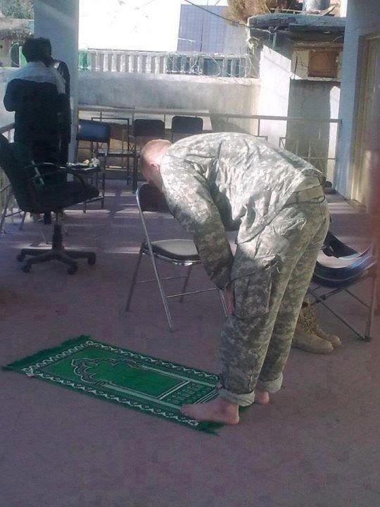 A Muslim US soldier.