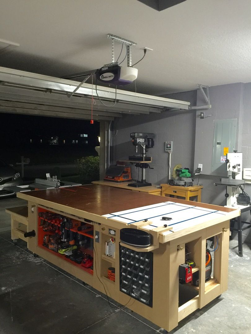 With the grain custom designs the ultimate workbench for Ultimate garage plans