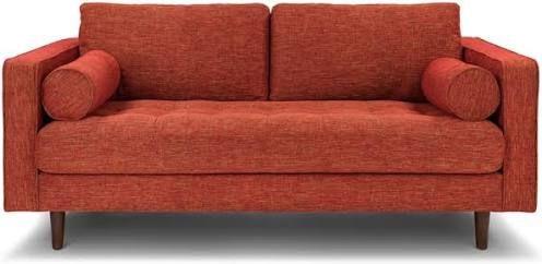 Best Burnt Orange Loveseat Green Velvet Sofa Tufted Sofa 400 x 300