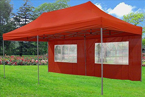 10x20 Pop Up 6 Wall Canopy Party Tent Gazebo Ez Red F Model Upgraded Frame By Delta Canopies For More Information Vis Camping And Hiking Tents Tent