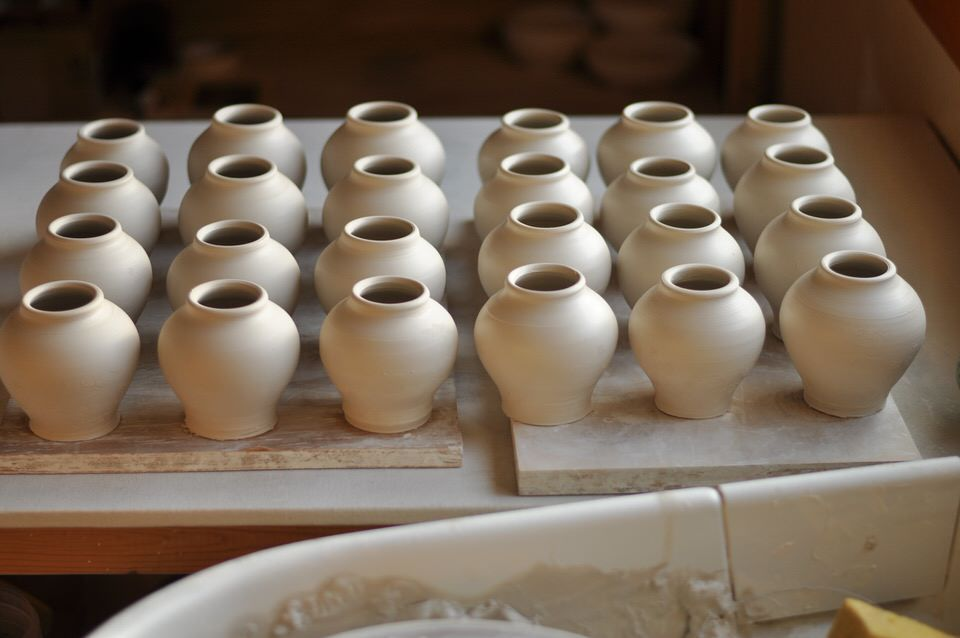 artist made urns in process lucyfagella.com