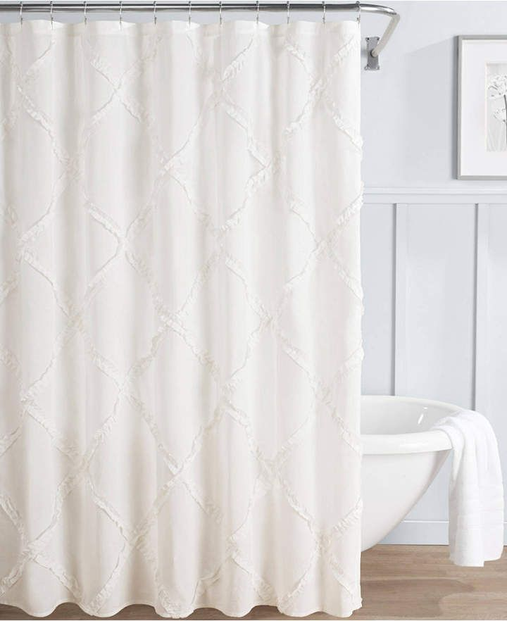Laura Ashley Adelina 100 Cotton Shower Curtain Bedding Curtains