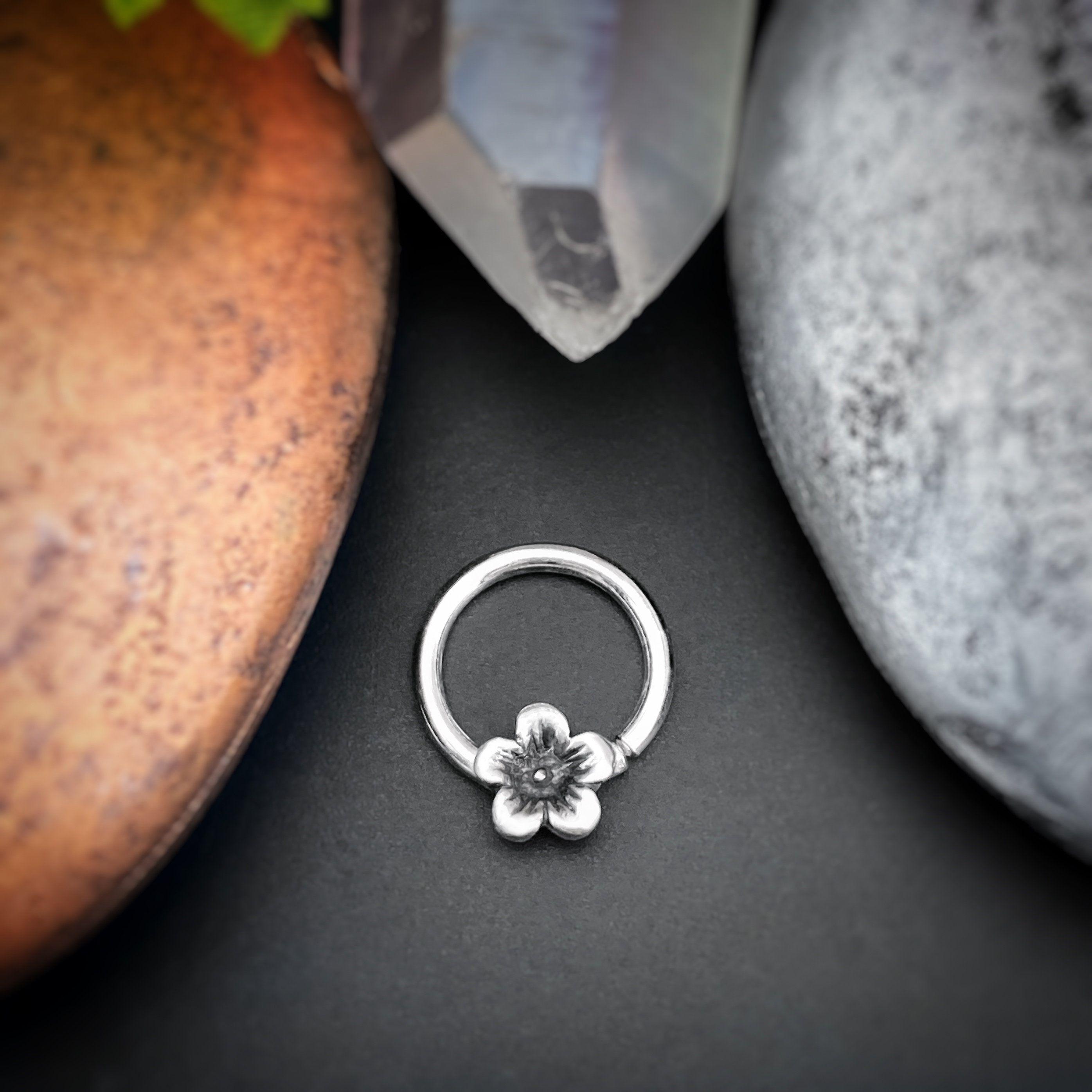 Cherry blossom septum ring septum hoop nose ring daith