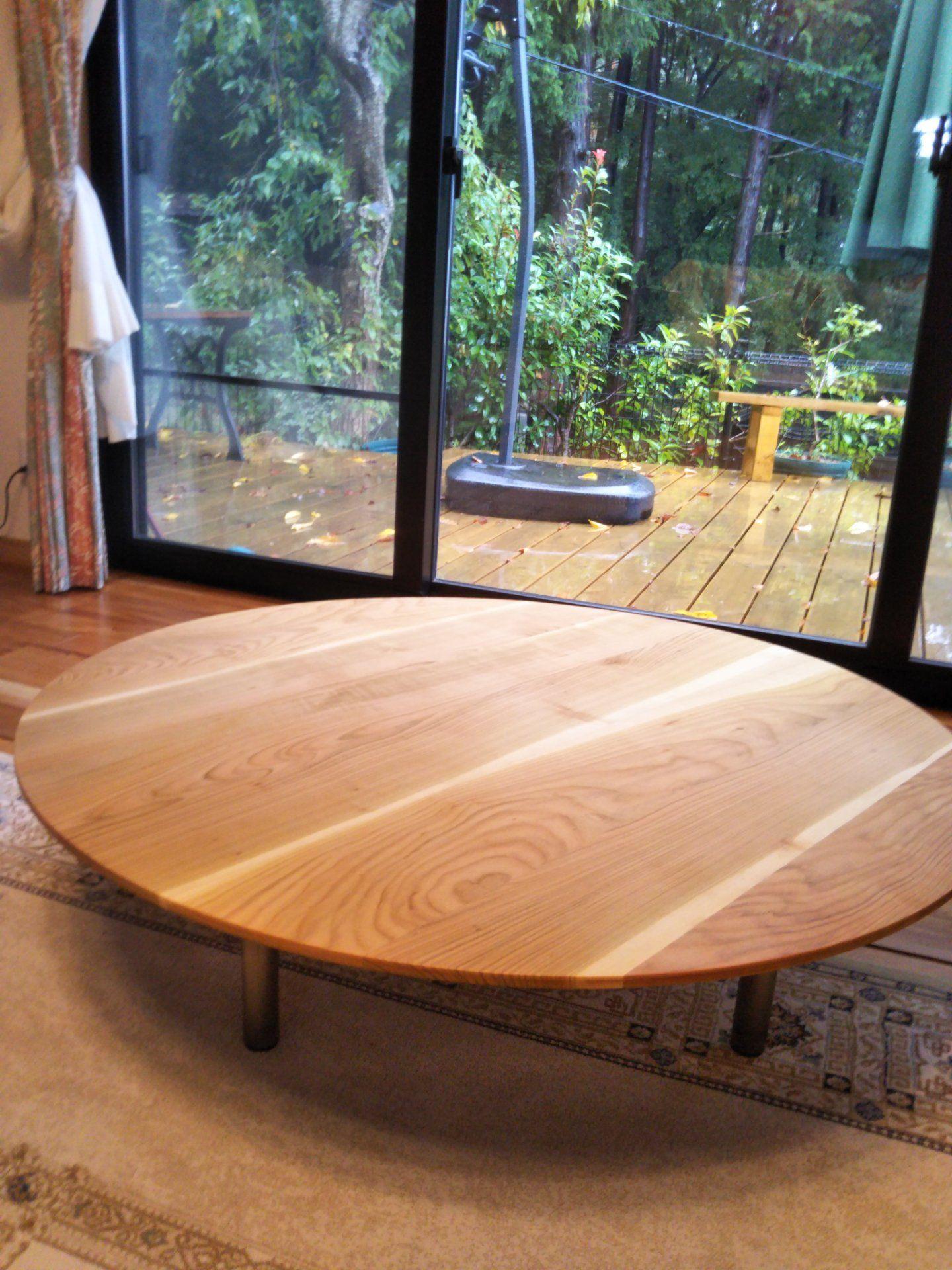 山桜のローテーブル ローテーブル ローテーブル 丸 アウトドアインテリア
