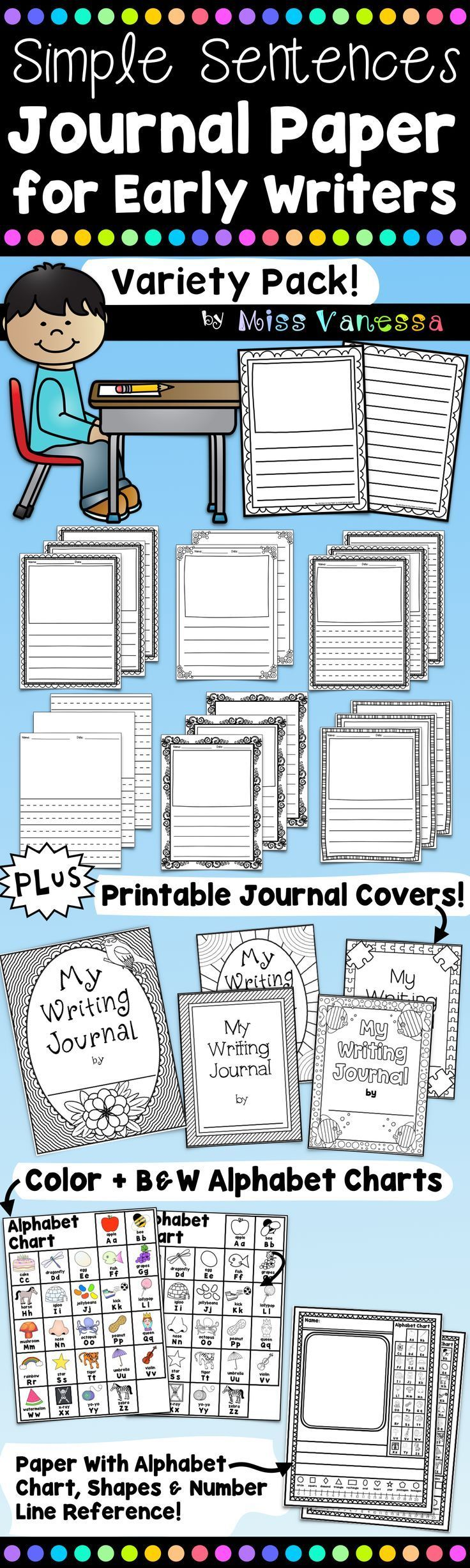 Journal Paper, Journal Covers And Alphabet Charts | School ...
