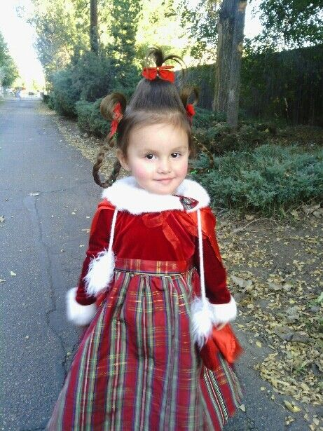 f5441a480845 Cindy Lou who from the grinch creative toddler costume | Halloween ...