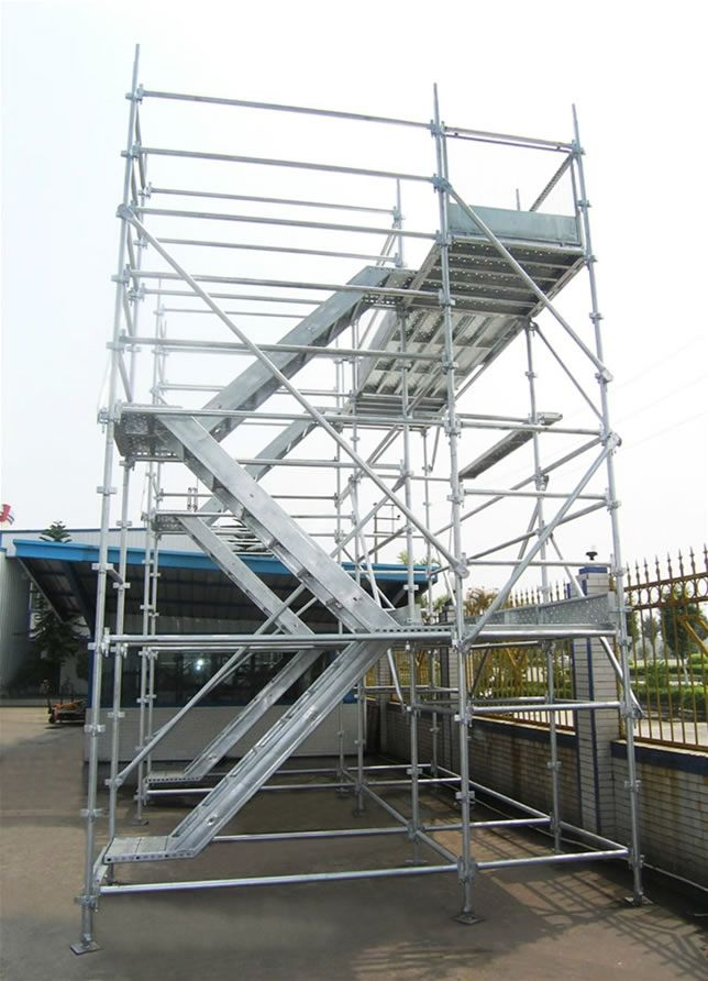 Dynamic Frame Stair Tower Aluminium Construction Scaffolding , Fast  Packaged Simple