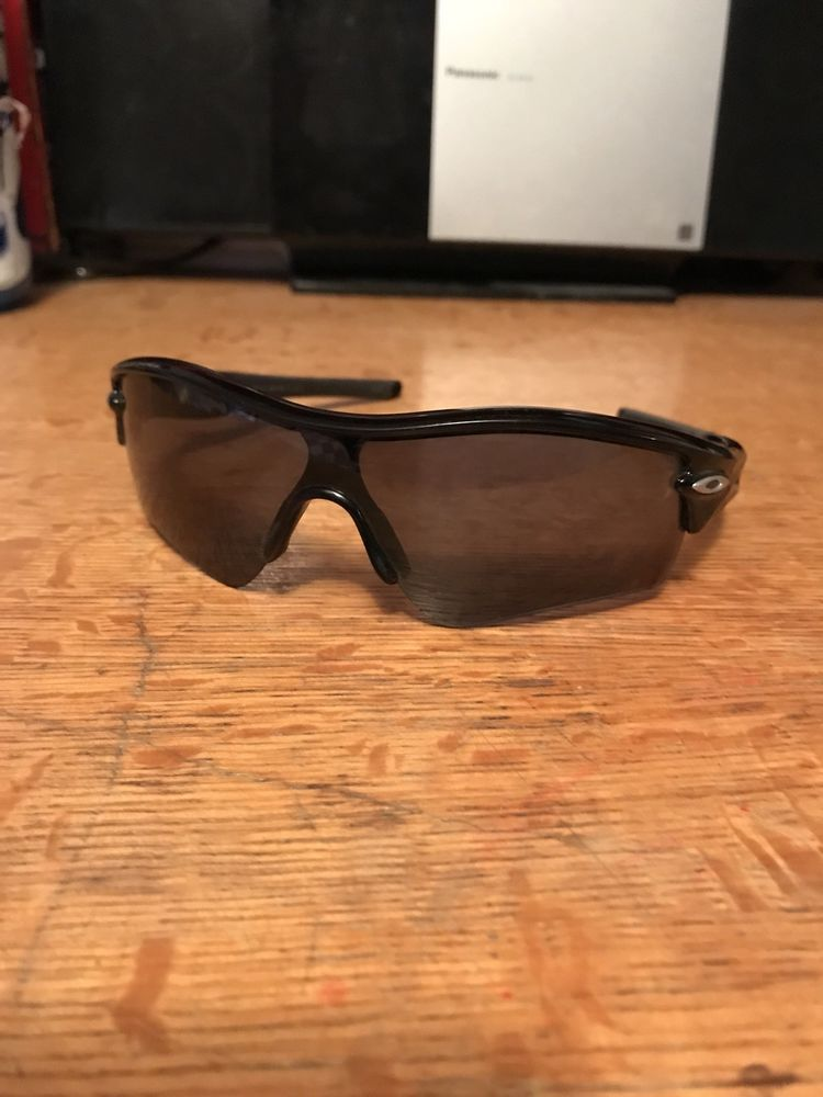 792d64fbaa Barely Used Men s Oakley Radar Path Jet Black Polished Sunglasses 09-670  132  fashion  clothing  shoes  accessories  mensaccessories ...