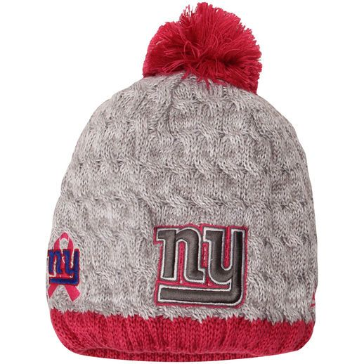 01ec3c0a New Era New York Giants Women's Gray/Pink Breast Cancer Awareness ...