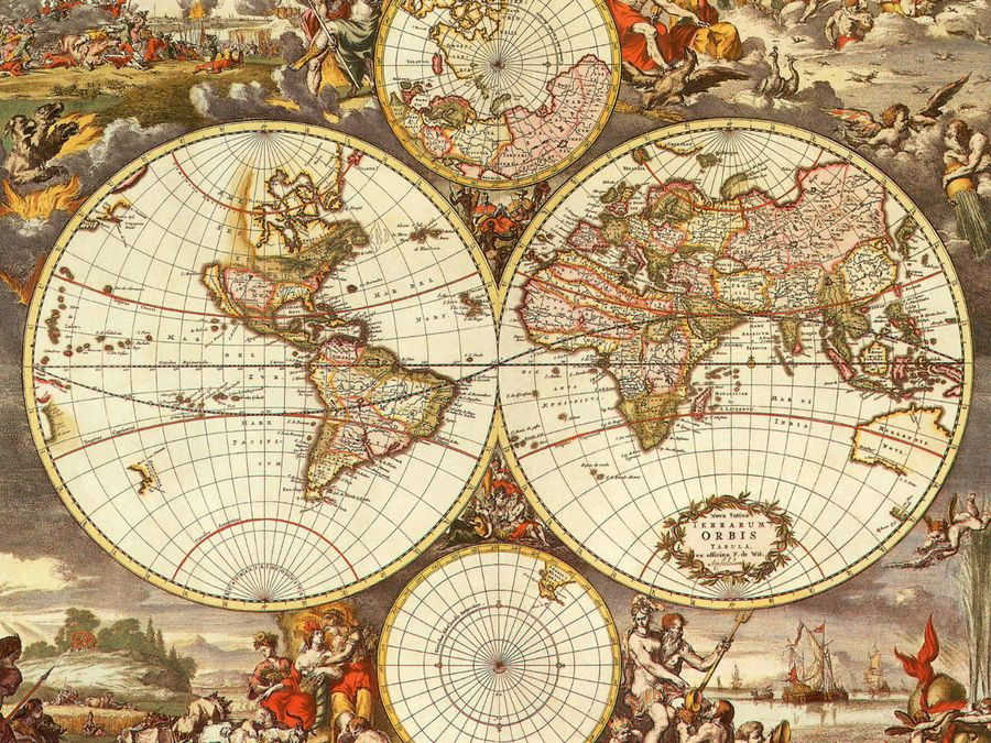 Ancient World Maps World Map 17th Century Vintage Maps - copy 3d world map hd wallpaper