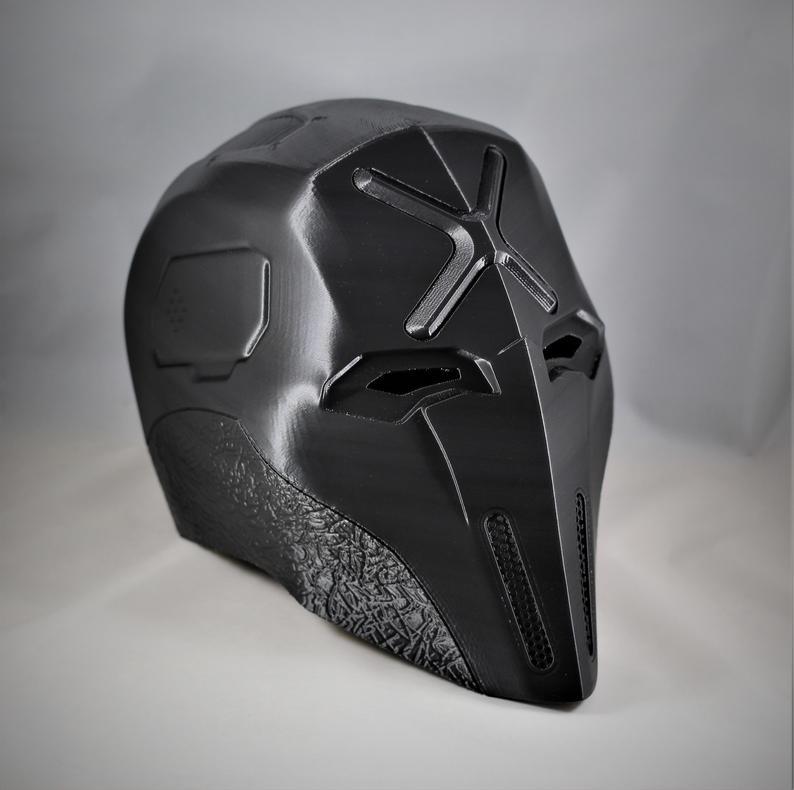 Red X Evolution Helmet Etsy Futuristic Helmet Helmet Cool Masks