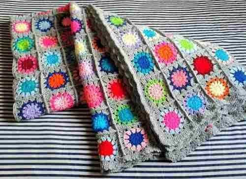 c1480319b Pie De Cama Mantas Y Colchas Tejidas Al Crochet - Colchas y ...