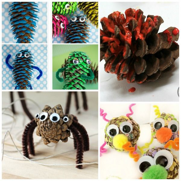 Pine cone crafts for kids pine cone craft and pinecone for Pine cone crafts for children