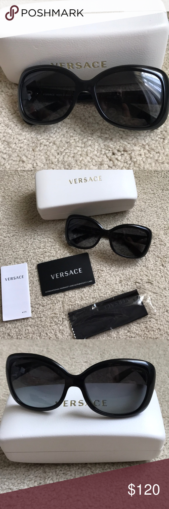 221b5f8530a1 Versace sunglasses. Authentic Like new Versace sunglasses with case and  authenticity card!! Polarized Versace Accessories Sunglasses