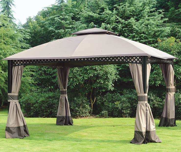 Wilson Fisher Windsor Gazebo With Netting 10 X 12 Big Lots Backyard Gazebo Gazebo Replacement Canopy Gazebo